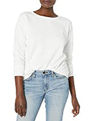 Amazon Hanes women's white pullover fleece sweatshirt