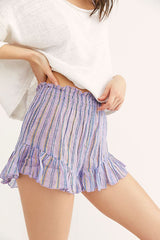 Free People purple striped sleep shorts