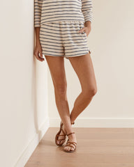 Upwest Baja gray and white striped textured short