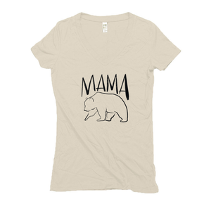 Mama Bear Hemp V-Neck T-Shirt