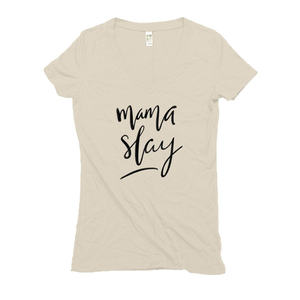 Mama Slay Hemp V-Neck T-Shirt