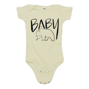 Baby Bear Cream Organic Cotton Onesie