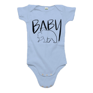 Baby Bear Baby Blue Organic Cotton Onesie