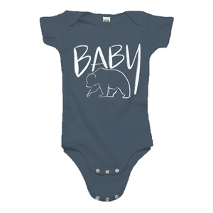 Baby Bear Ocean Blue Organic Cotton Onesie