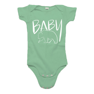 Baby Bear Green Organic Cotton Onesie