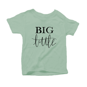 Big Little Organic Cotton Toddler Short Sleeve Green Crew Tee