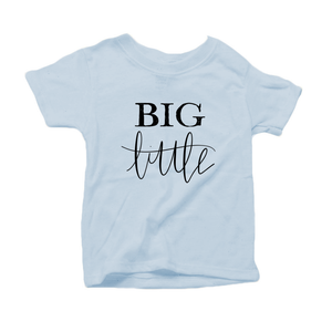 Big Little Organic Cotton Toddler Short Sleeve Crew Tee