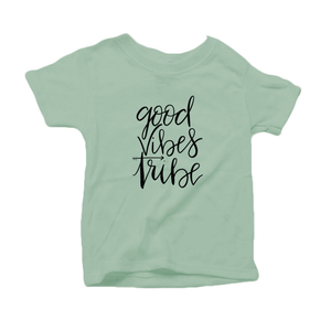 Good Vibes Tribe Organic Cotton Toddler Short Sleeve Crew Tee