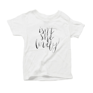 Isn't She Lovely Organic Cotton Toddler Short Sleeve Crew Tee