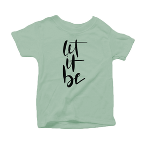 Let It Be Organic Cotton Toddler Short Sleeve Green Crew Tee