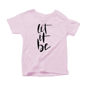 Let It Be Organic Cotton Toddler Short Sleeve Crew Tee