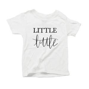 Little Little Organic Cotton Toddler Short Sleeve White Crew Tee