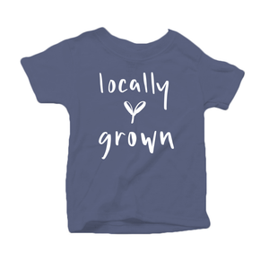 Locally Grown Organic Cotton Toddler Short Sleeve Blue Crew Tee