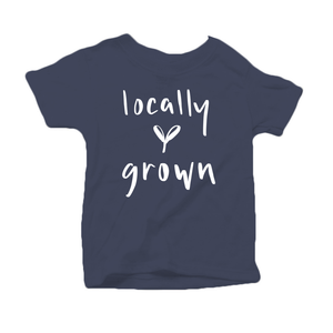 Locally Grown Organic Cotton Toddler Short Sleeve Crew Tee