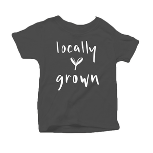 Locally Grown Organic Cotton Toddler Short Sleeve Charcoal Crew Tee
