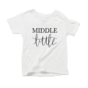 Middle Little Organic Cotton Toddler Short Sleeve White Crew Tee