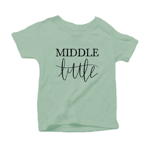 Middle Little Organic Cotton Toddler Short Sleeve Green Crew Tee