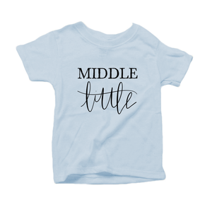 Middle Little Organic Cotton Toddler Short Sleeve Baby Blue Crew Tee