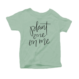 Plant One on Me Organic Cotton Toddler Short Sleeve Green Crew Tee