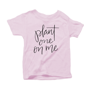 Plant One on Me Organic Cotton Toddler Short Sleeve Pink Crew Tee