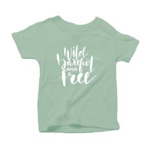 Wild, Barefoot and Free Organic Cotton Toddler Short Sleeve Green Crew Tee