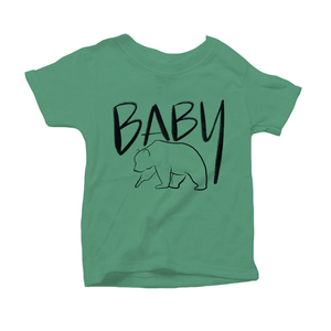 Baby Bear Organic Green Triblend Infant Short Sleeve Tee