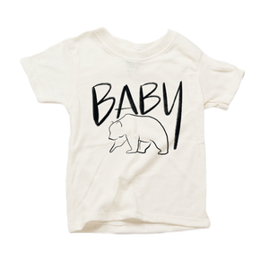Baby Bear Organic Sand Triblend Infant Short Sleeve Tee