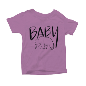 Baby Bear Organic Purple Triblend Infant Short Sleeve Tee