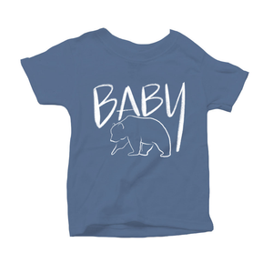 Baby Bear Organic Blue Triblend Infant Short Sleeve Tee