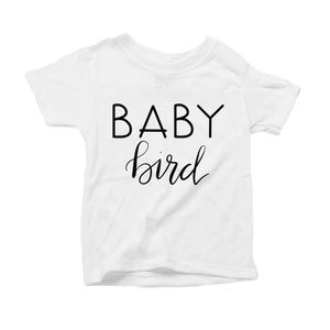 Baby Bird Organic White Triblend Infant Short Sleeve Tee