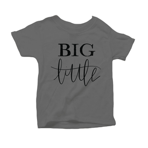Big Little Organic Charcoal Triblend Infant Short Sleeve Tee