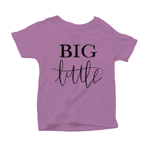 Big Little Organic Purple Triblend Infant Short Sleeve Tee