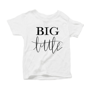 Big Little Organic White Triblend Infant Short Sleeve Tee