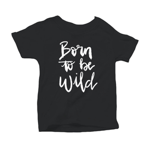 Born to be Wild Organic Black Triblend Infant Short Sleeve Tee