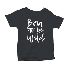Born to be Wild Organic Charcoal Triblend Infant Short Sleeve Tee