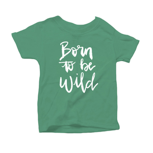 Born to be Wild Organic Green Triblend Infant Short Sleeve Tee