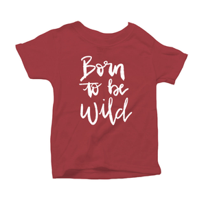 Born to be Wild Organic Red Triblend Infant Short Sleeve Tee