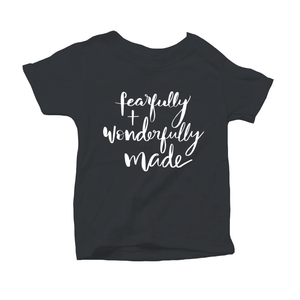 Fearfully and Wonderfully Made Organic Charcoal Triblend Infant Short Sleeve Tee