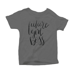 Future Girl Boss Organic Charcoal Triblend Infant Short Sleeve Tee