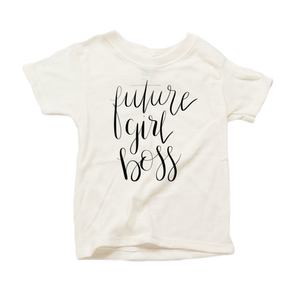 Future Girl Boss Organic Sand Triblend Infant Short Sleeve Tee