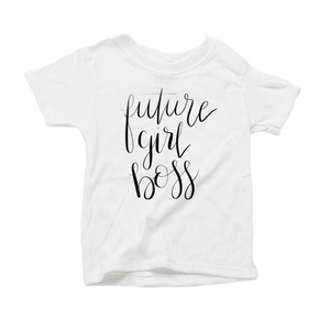 Future Girl Boss Organic Triblend Infant Short Sleeve Tee