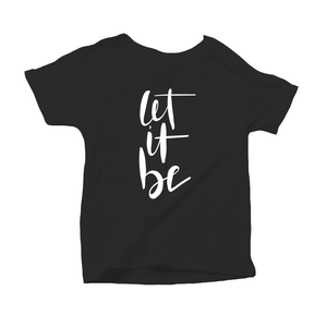 Let It Be Organic Black Triblend Infant Short Sleeve Tee
