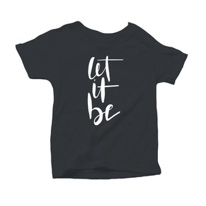 Let It Be Organic Charcoal Triblend Infant Short Sleeve Tee