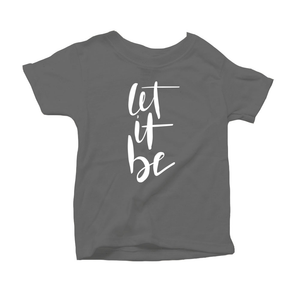 Let It Be Organic Grey Triblend Infant Short Sleeve Tee