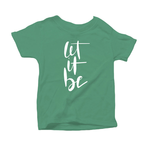 Let It Be Organic Green Triblend Infant Short Sleeve Tee