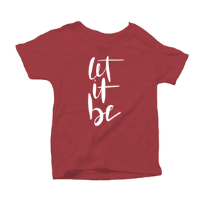 Let It Be Organic Red Triblend Infant Short Sleeve Tee