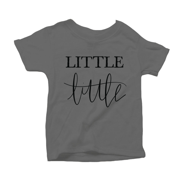 Little Little Organic Grey Triblend Infant Short Sleeve Tee