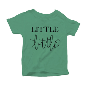 Little Little Organic Green Triblend Infant Short Sleeve Tee