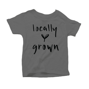 Locally Grown Organic Grey Triblend Infant Short Sleeve Tee