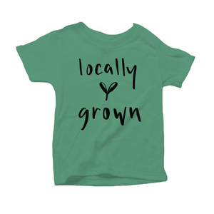 Locally Grown Organic Green Triblend Infant Short Sleeve Tee